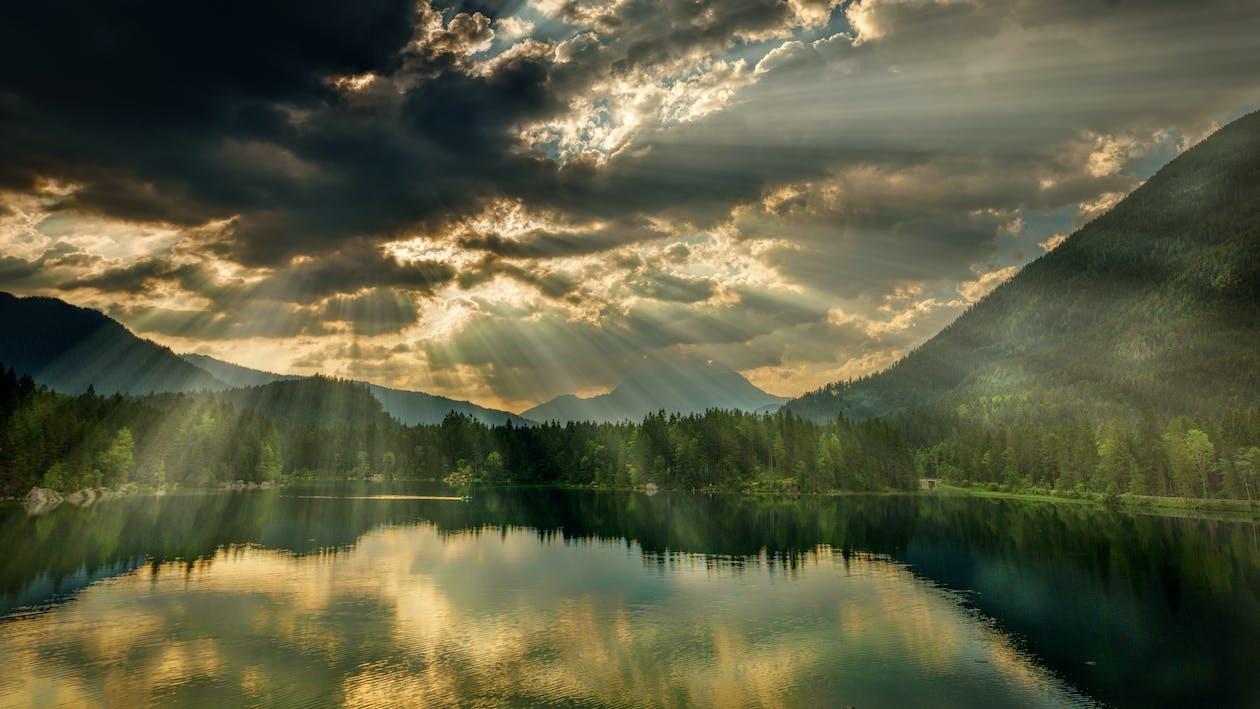 berg, landskap, lugn