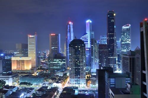 คลังภาพถ่ายฟรี ของ กลางคืน, ตอนเย็น, ตึก, ตึกระฟ้า
