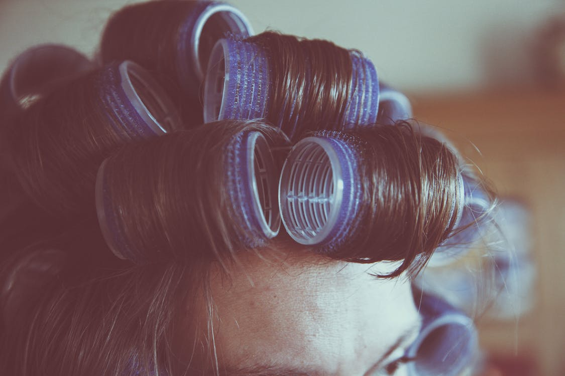 Free stock photo of curlers, curly hair, female