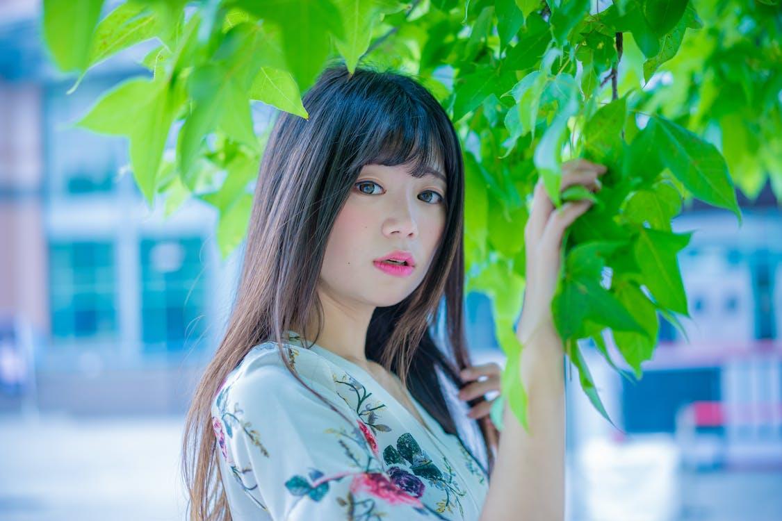 asiatisk kvinna, dagtid, flicka