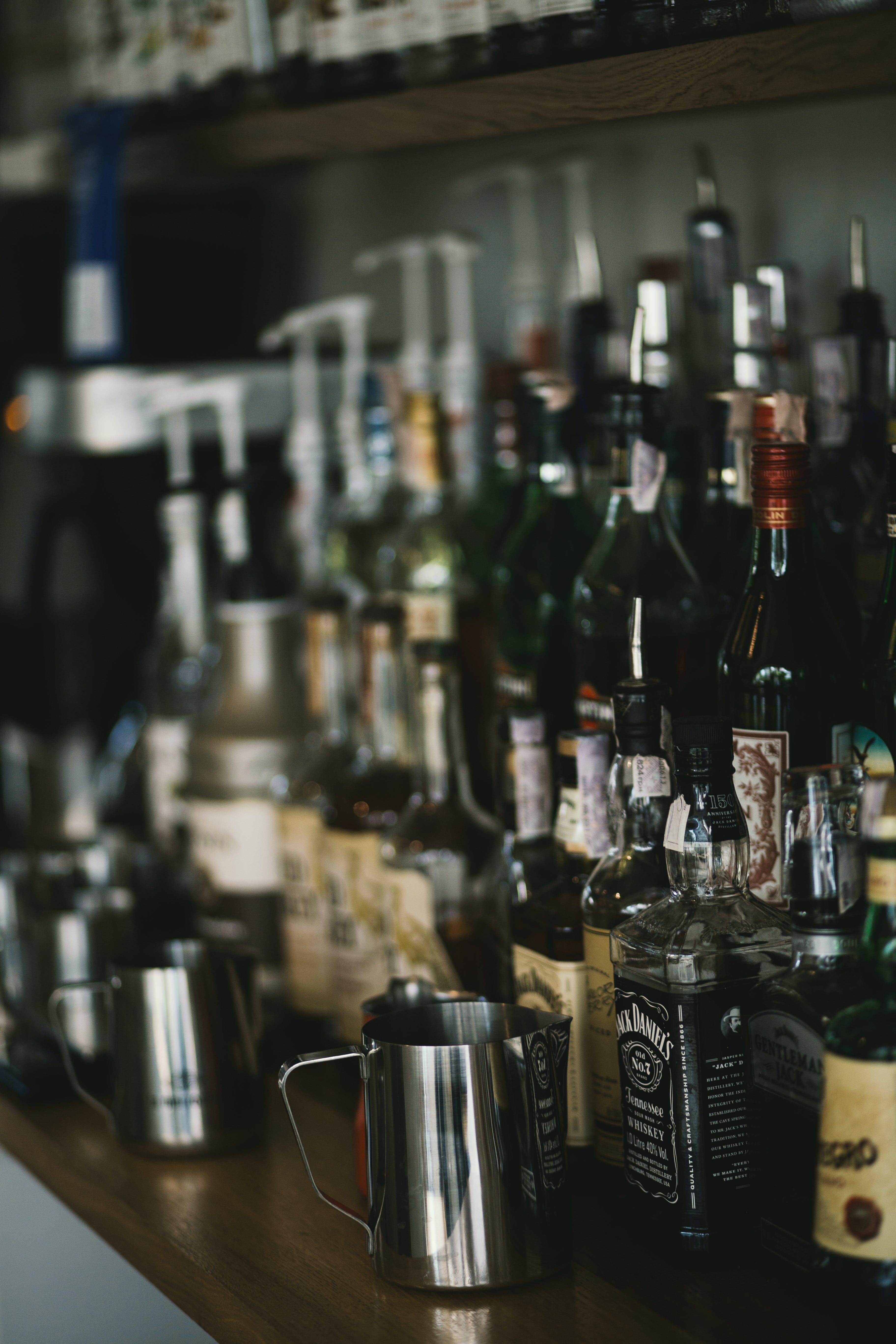 acción, adentro, alcohol