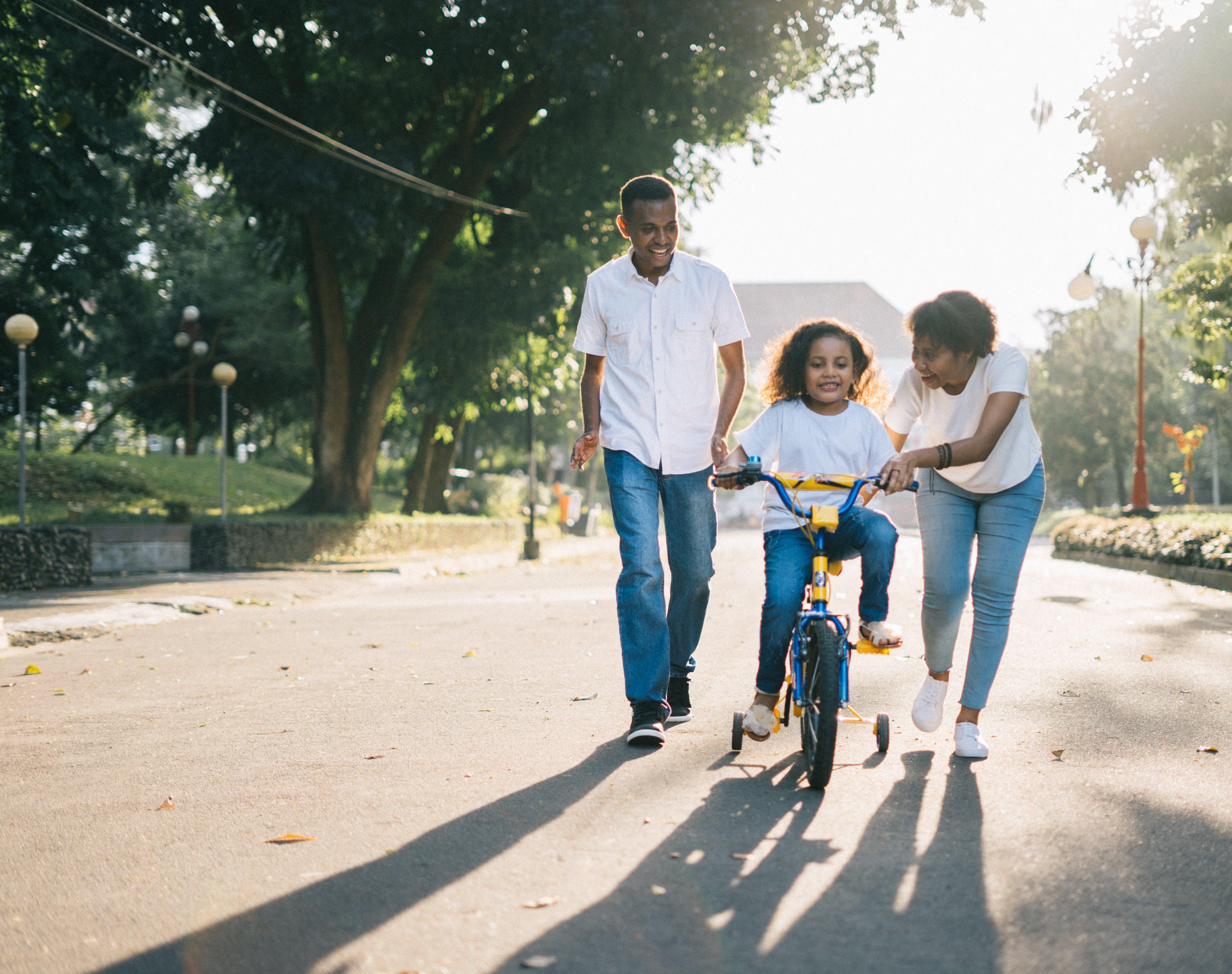 Immagine gratuita di amore, bambino, ciclista, coppia