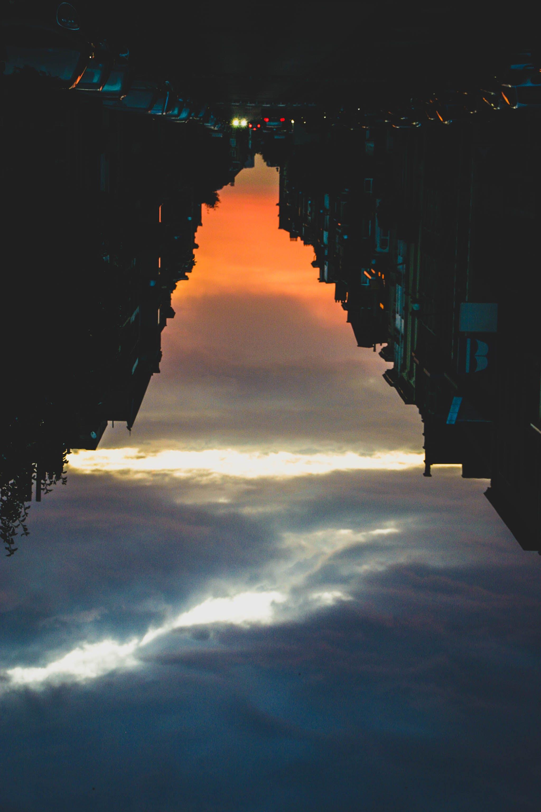 Free stock photo of city, lights, mountain, sunset