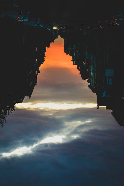 Ingyenes stockfotó fények, hegy, naplemente, város témában