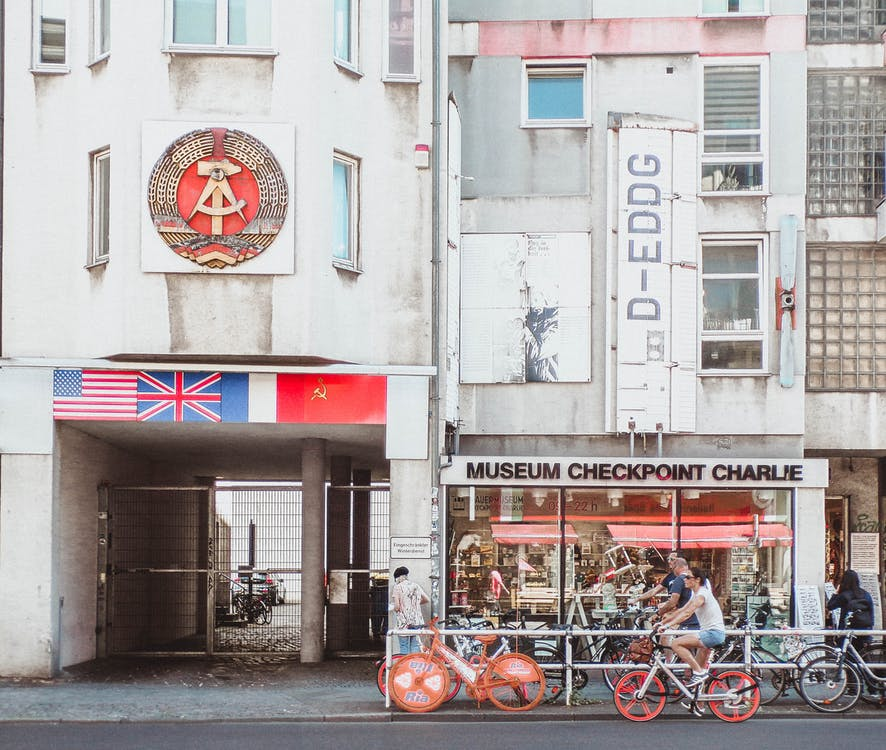 architecture, berlin, checkpoint charlie