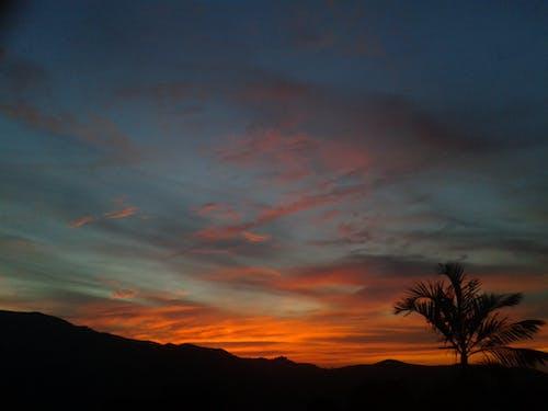 Free stock photo of cloudy sky, mountain, orange skies