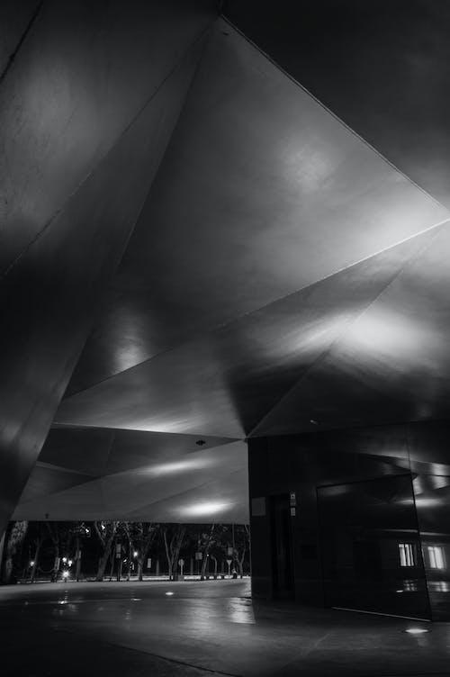 Základová fotografie zdarma na téma architektura, černobílý
