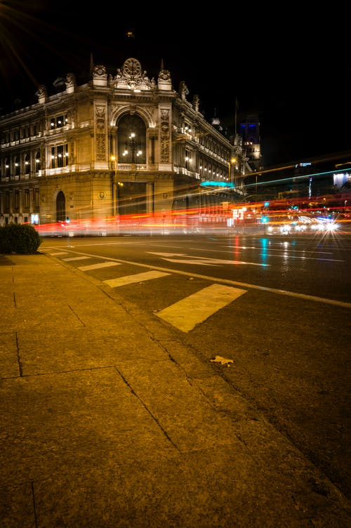 คลังภาพถ่ายฟรี ของ ชีวิตในเมือง, เส้นทางแสง