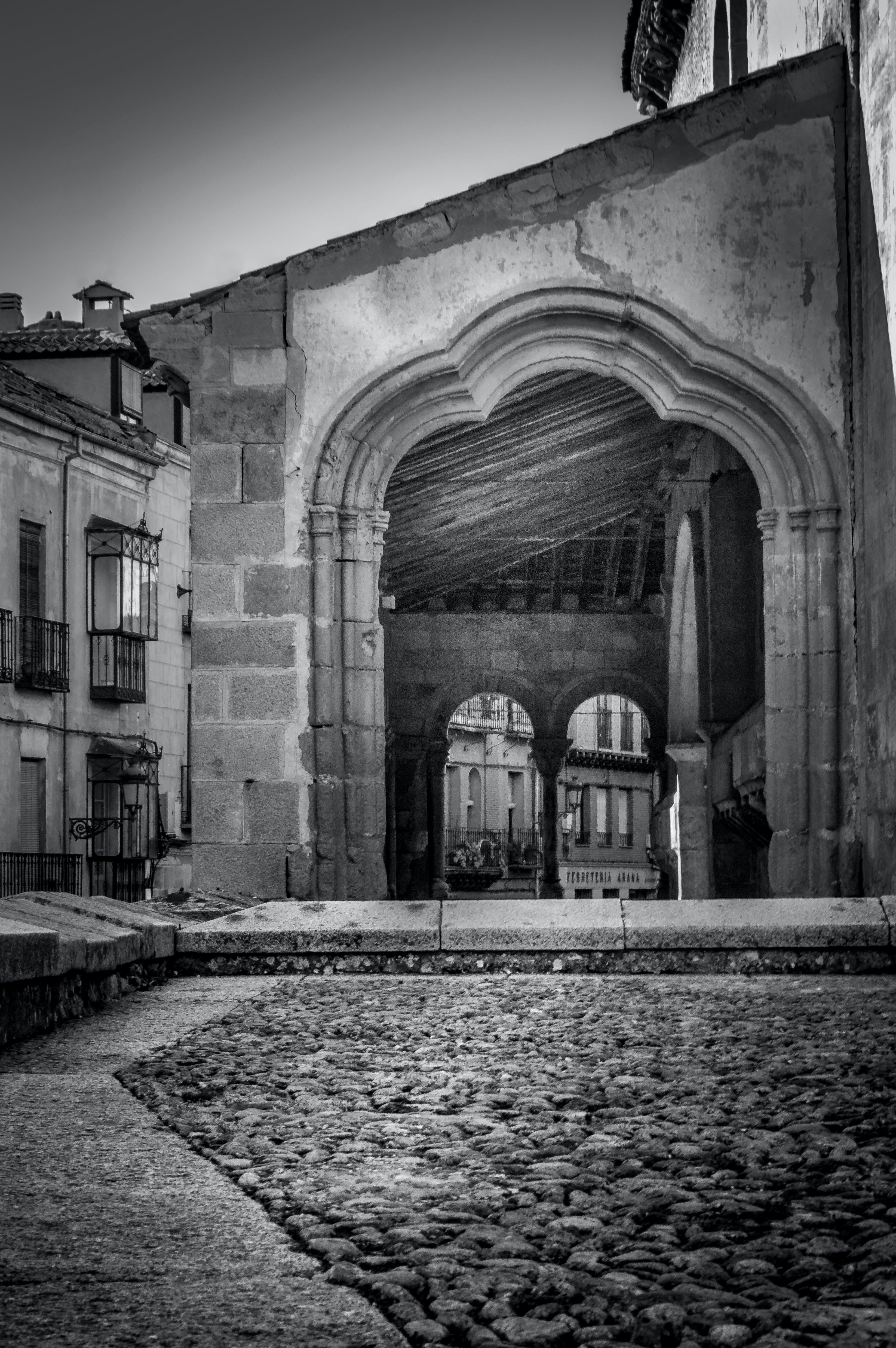 Free stock photo of arch, black-and-white