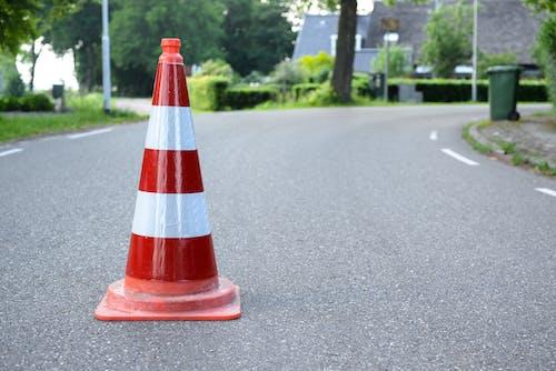 Imagine de stoc gratuită din arbori, asfalt, avertisment