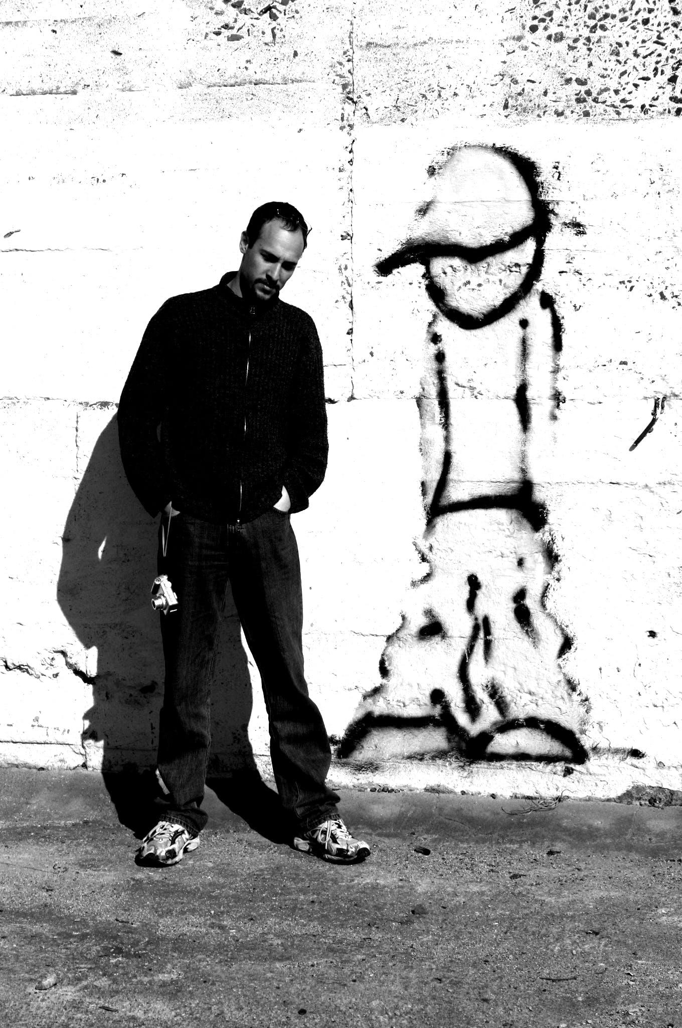 Free stock photo of contemplation, graffiti, portrait