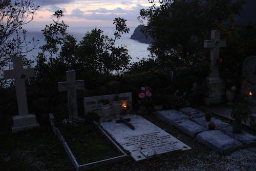 Foto stok gratis lautan, makam, malam