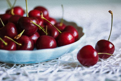 Základová fotografie zdarma na téma čerstvé ovoce, červené třešně, jídlo, třešeň