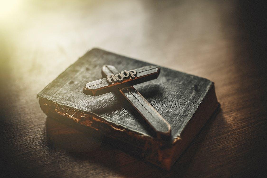 Bibel, brunlig, gamle bibel