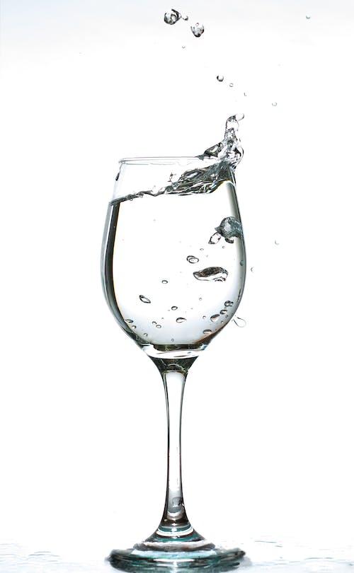 거품, 고블릿, 물, 물을 튀기다의 무료 스톡 사진