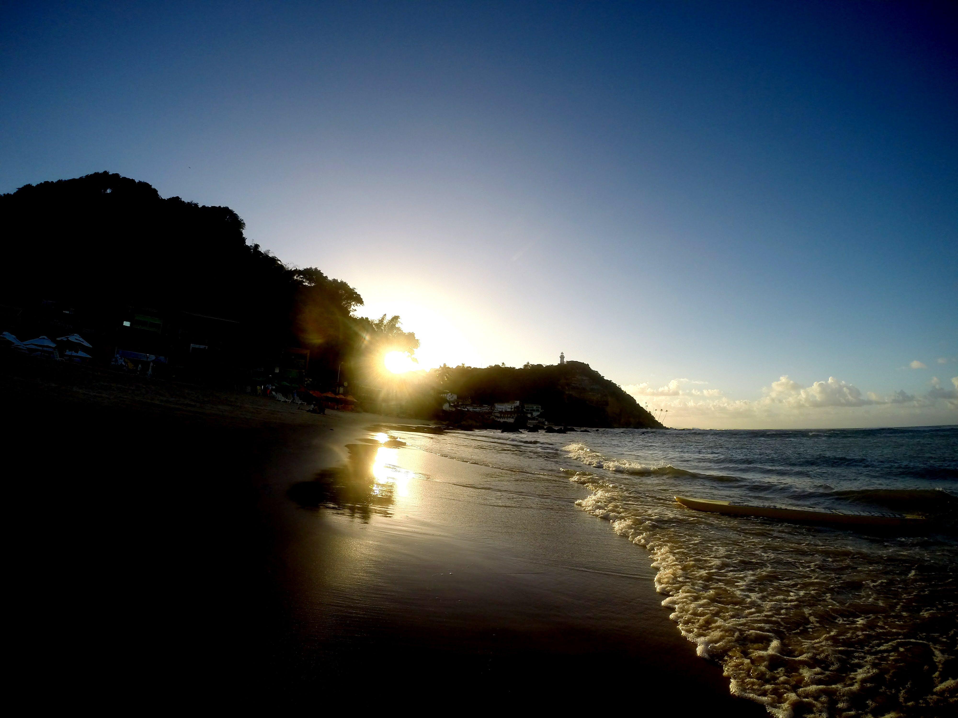 Free stock photo of bahia, beach, brazil, por do sol