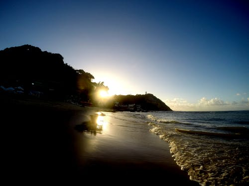 Foto d'estoc gratuïta de bahia, brasil, platja, por do sol