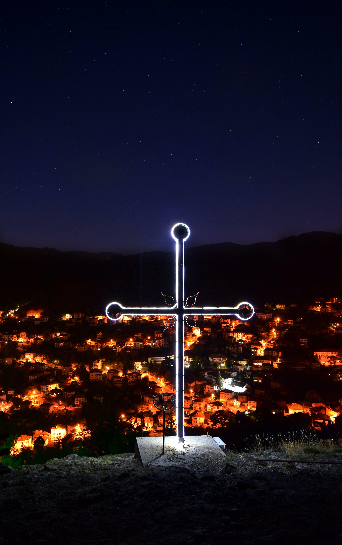 Free stock photo of lights, night, village, choss