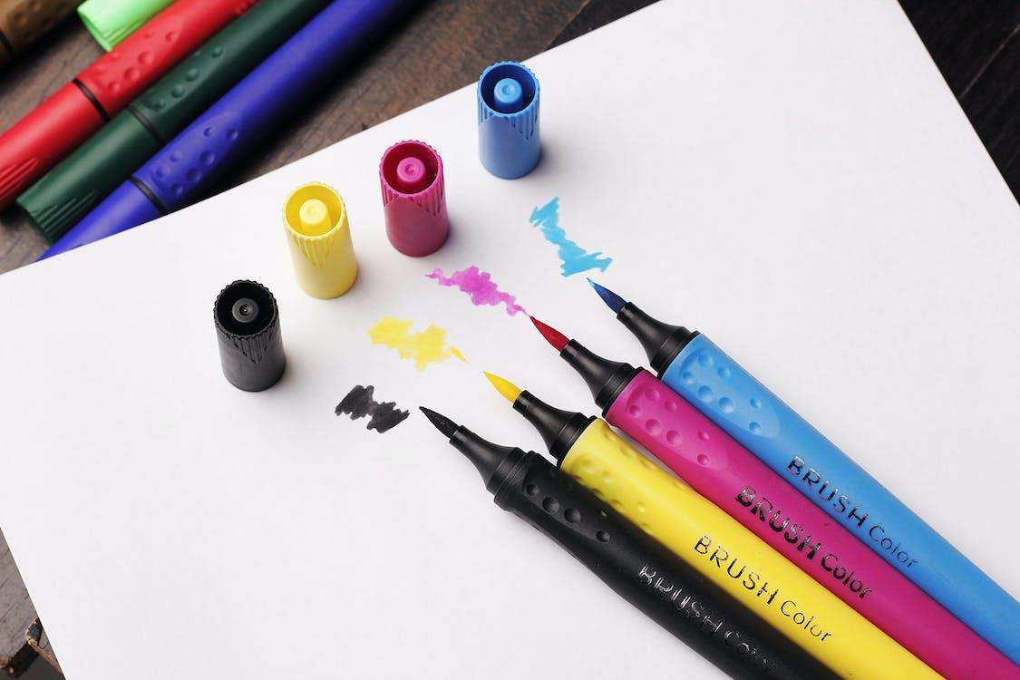 kleurrijk, markeerstiften, markers