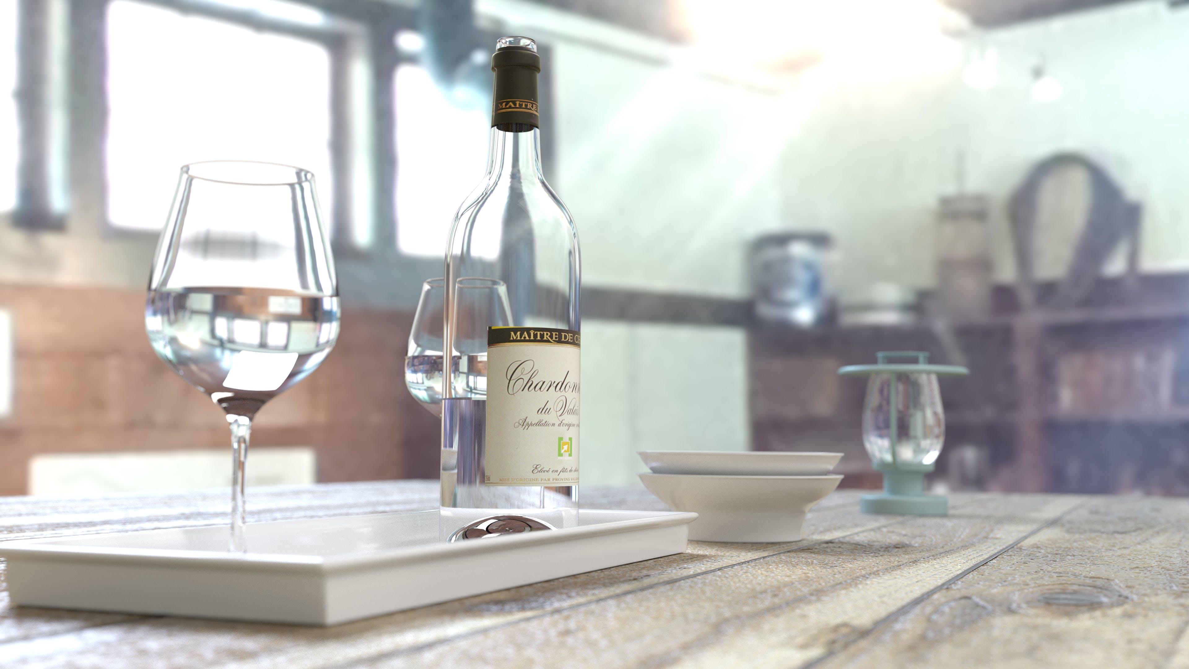 Kostenloses Stock Foto zu alkohol, brille, flasche, getränke