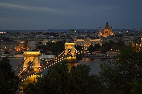 Základová fotografie zdarma na téma Budapešť, město, most, noční město