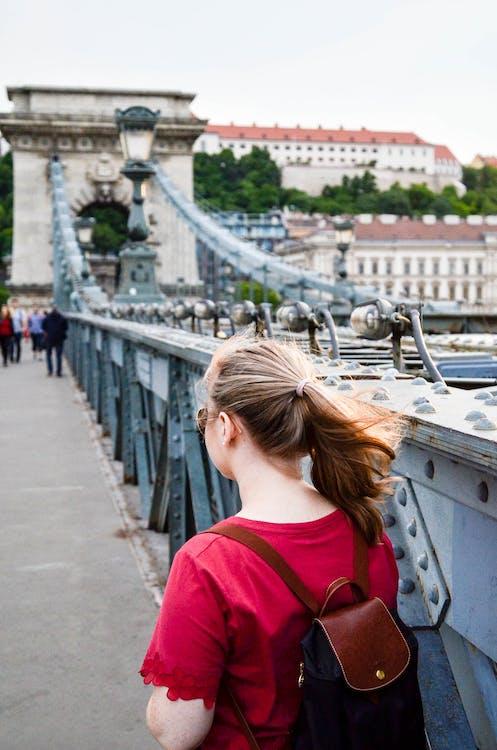 architektura, batoh, Budapešť