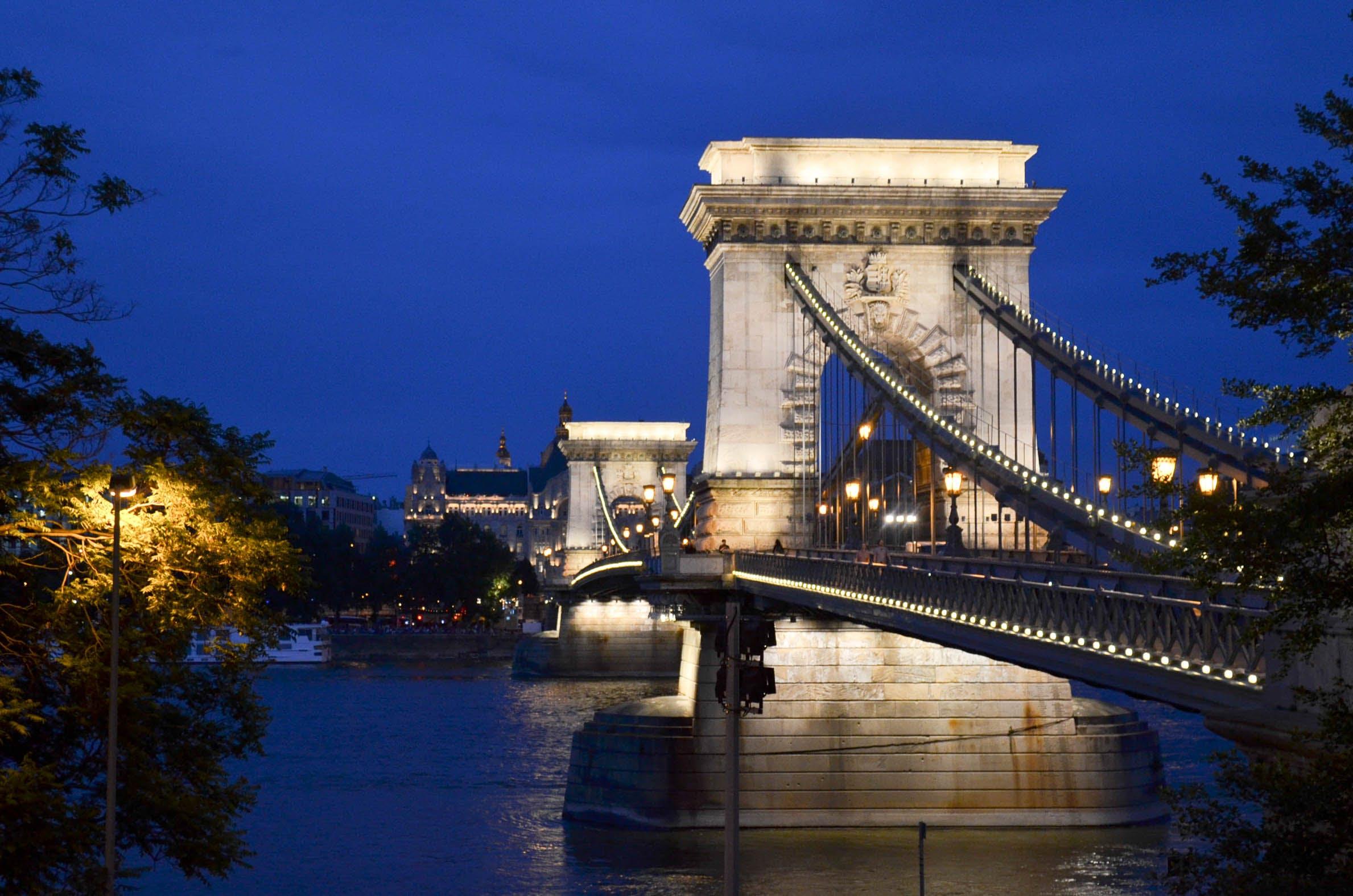Free stock photo of bridge, Budapest, city, night