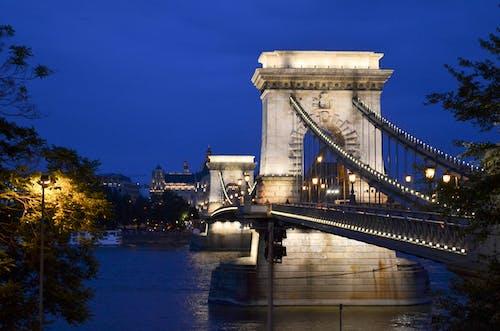 Základová fotografie zdarma na téma Budapešť, město, most, noc