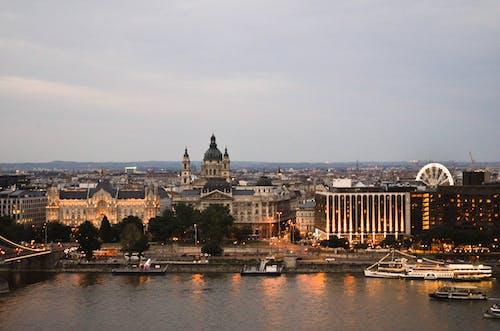 Základová fotografie zdarma na téma Budapešť, město, noční město, noční panorama