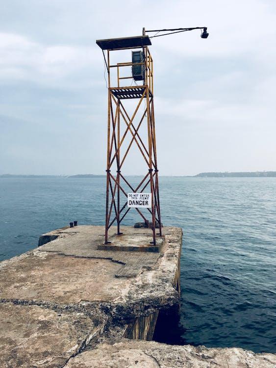간판, 물, 바다