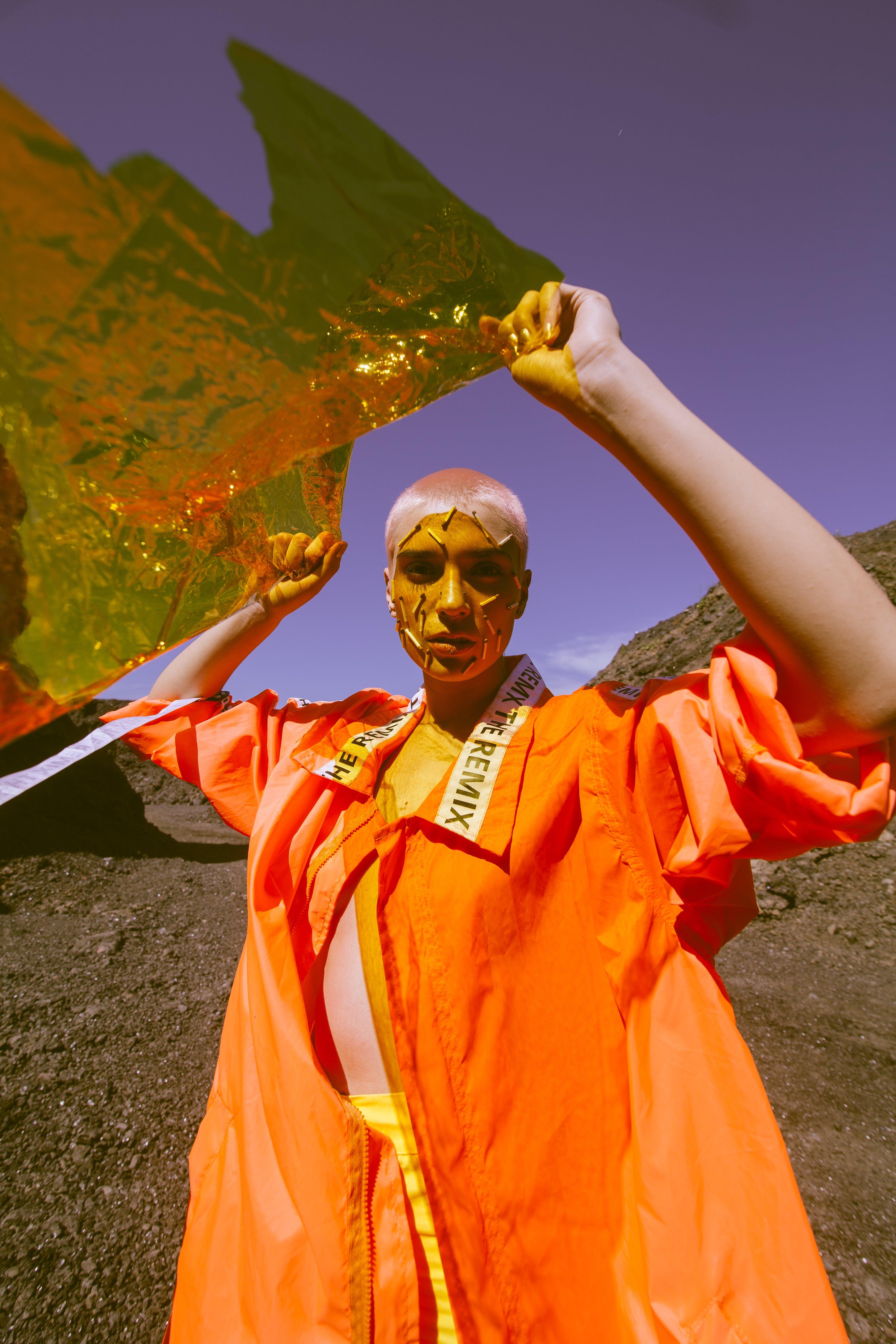 Women's Orange Dress