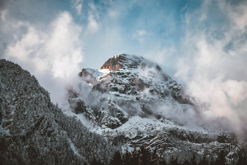 Snow-covered Mountain Peak