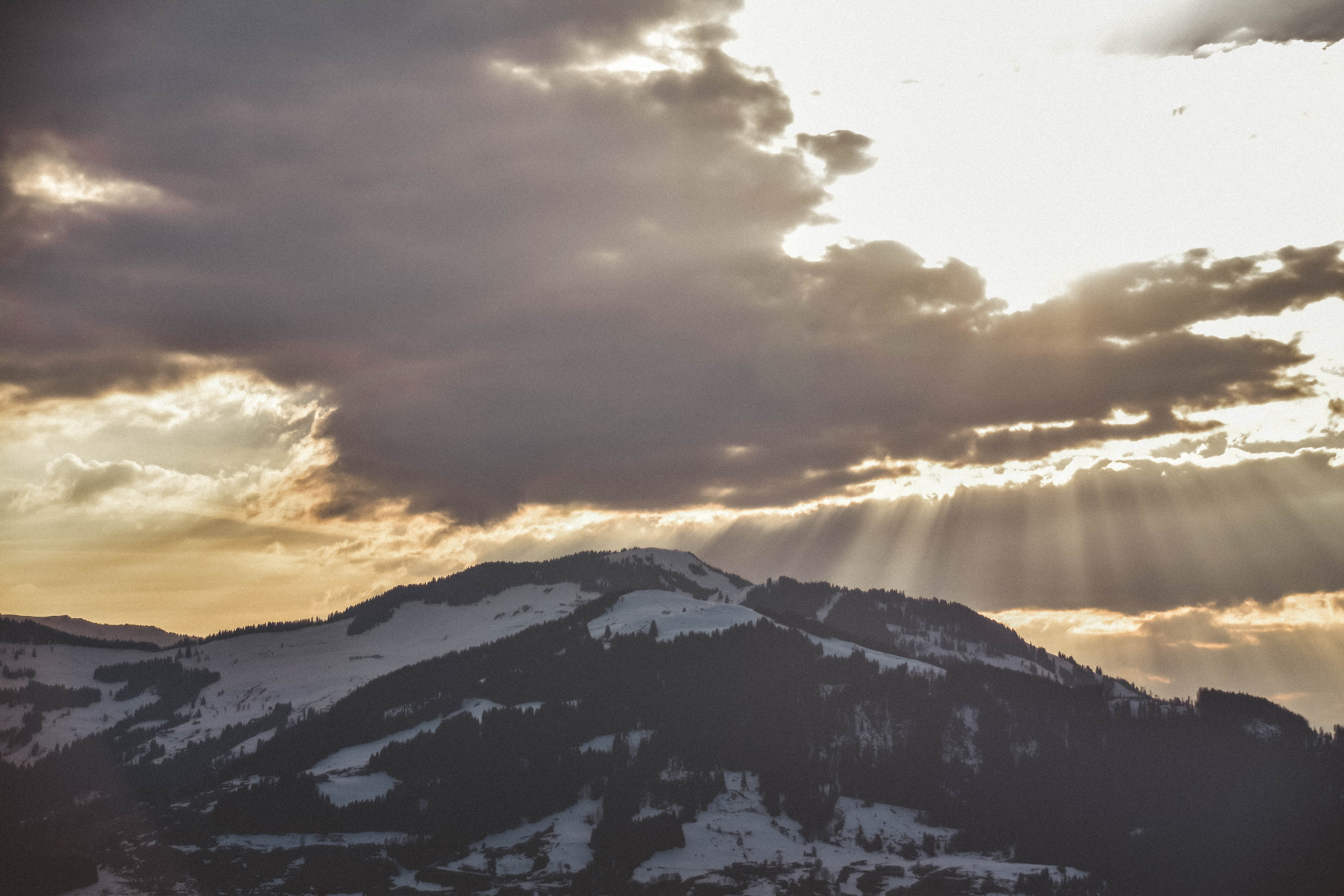 Sunrays Passing Through Clouds