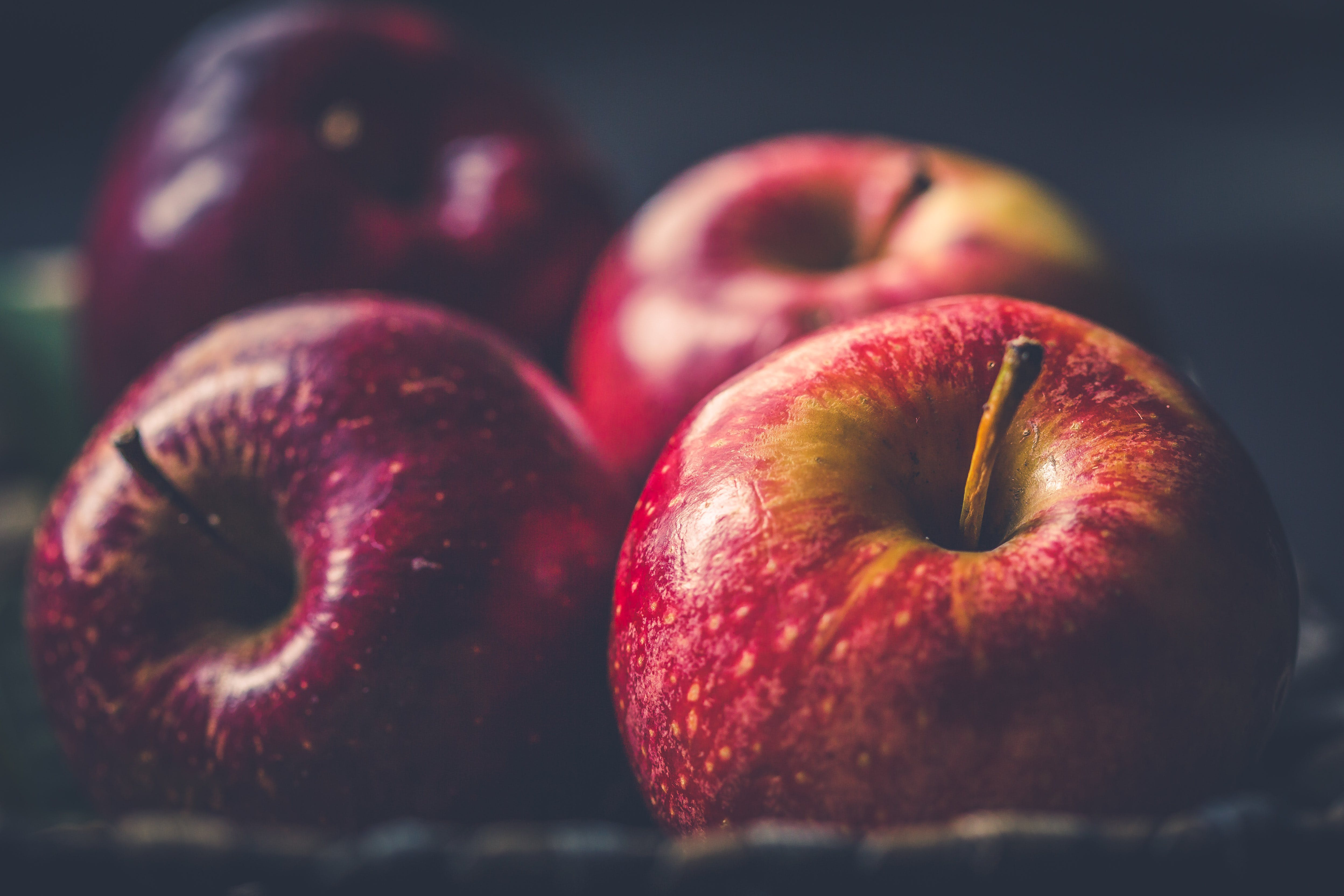 Four Red Apple Fruits