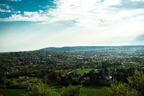 Free stock photo of viewpoint, village, vista