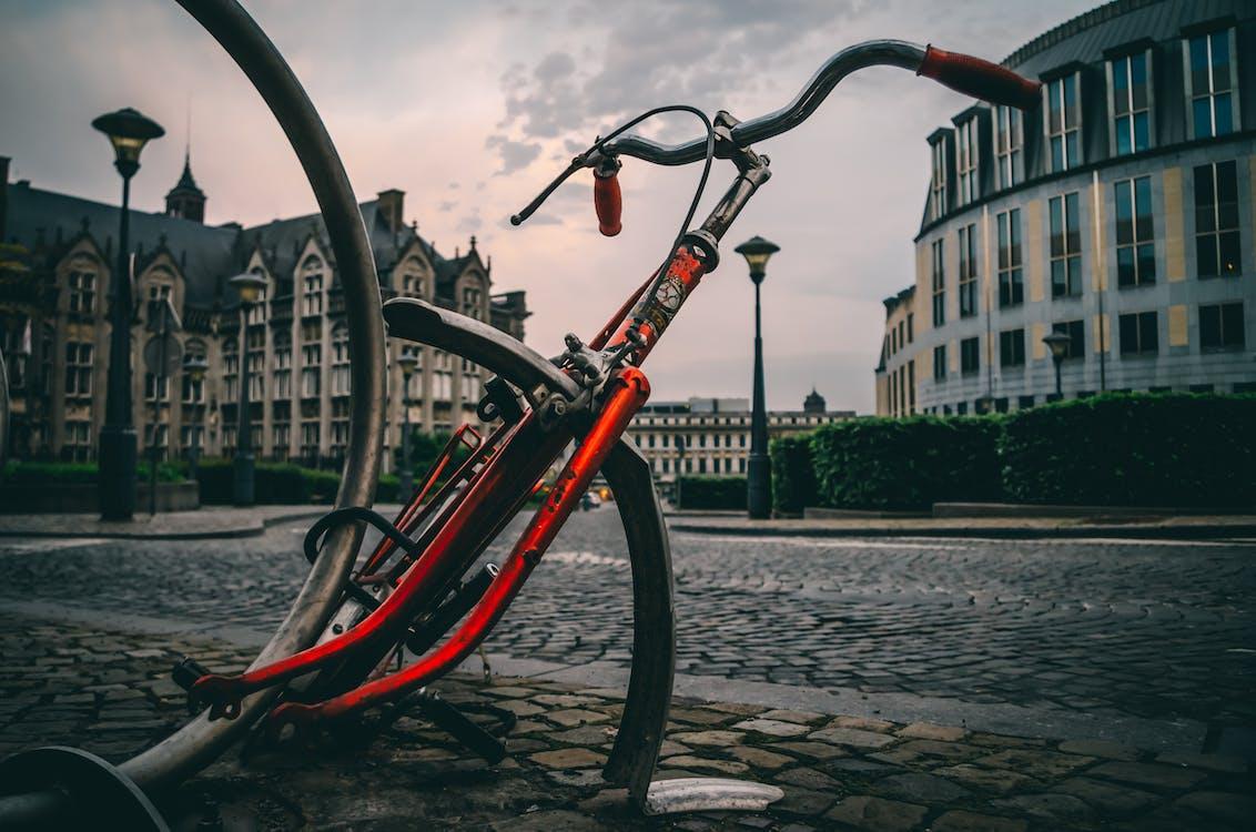 architektura, budova, jízdní kolo