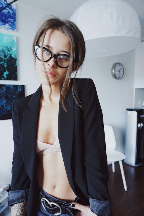 Woman in Black Blazer Taking Selfie