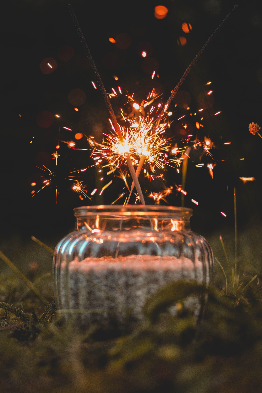 Δωρεάν στοκ φωτογραφιών με αστερίες, ελαφρύς, εορτασμός, σπίθες