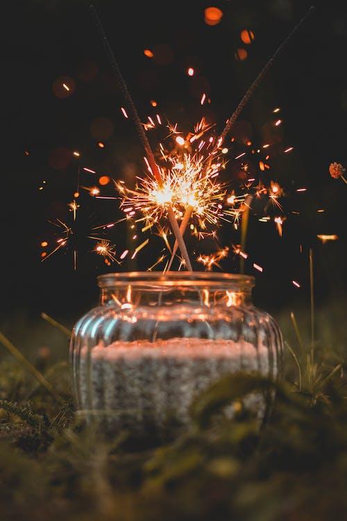 お祝い, 光, 火花, 発光の無料の写真素材