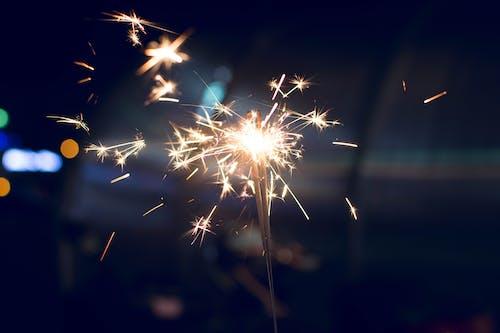 お祝い, イブ, フラッシュ, 光の無料の写真素材