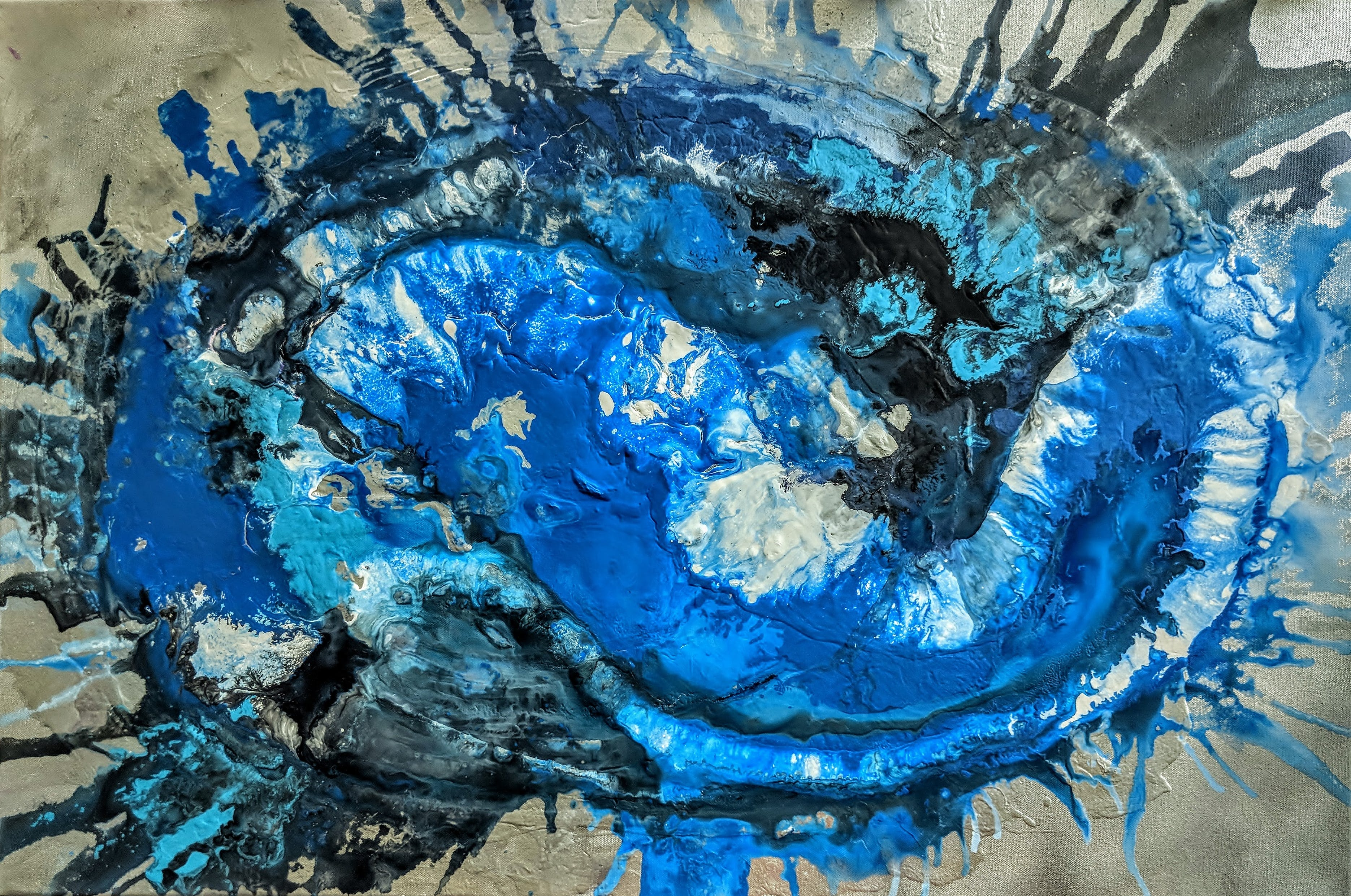 Free stock photo of abstract painting, dark blue