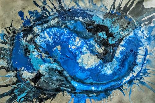 Kostnadsfri bild av abstrakt målning, mörkblå
