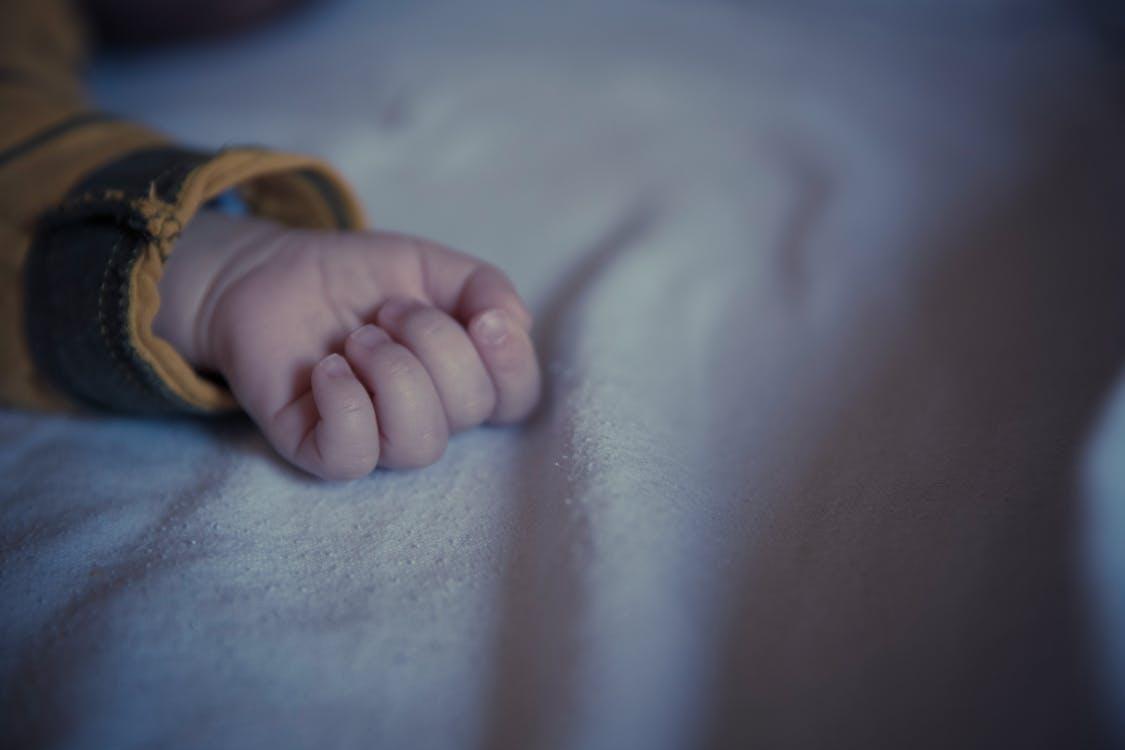 bebê, criança, dedos