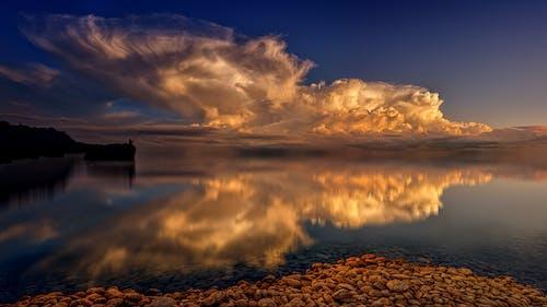 おとこ, 反射, 岩, 日没の無料の写真素材