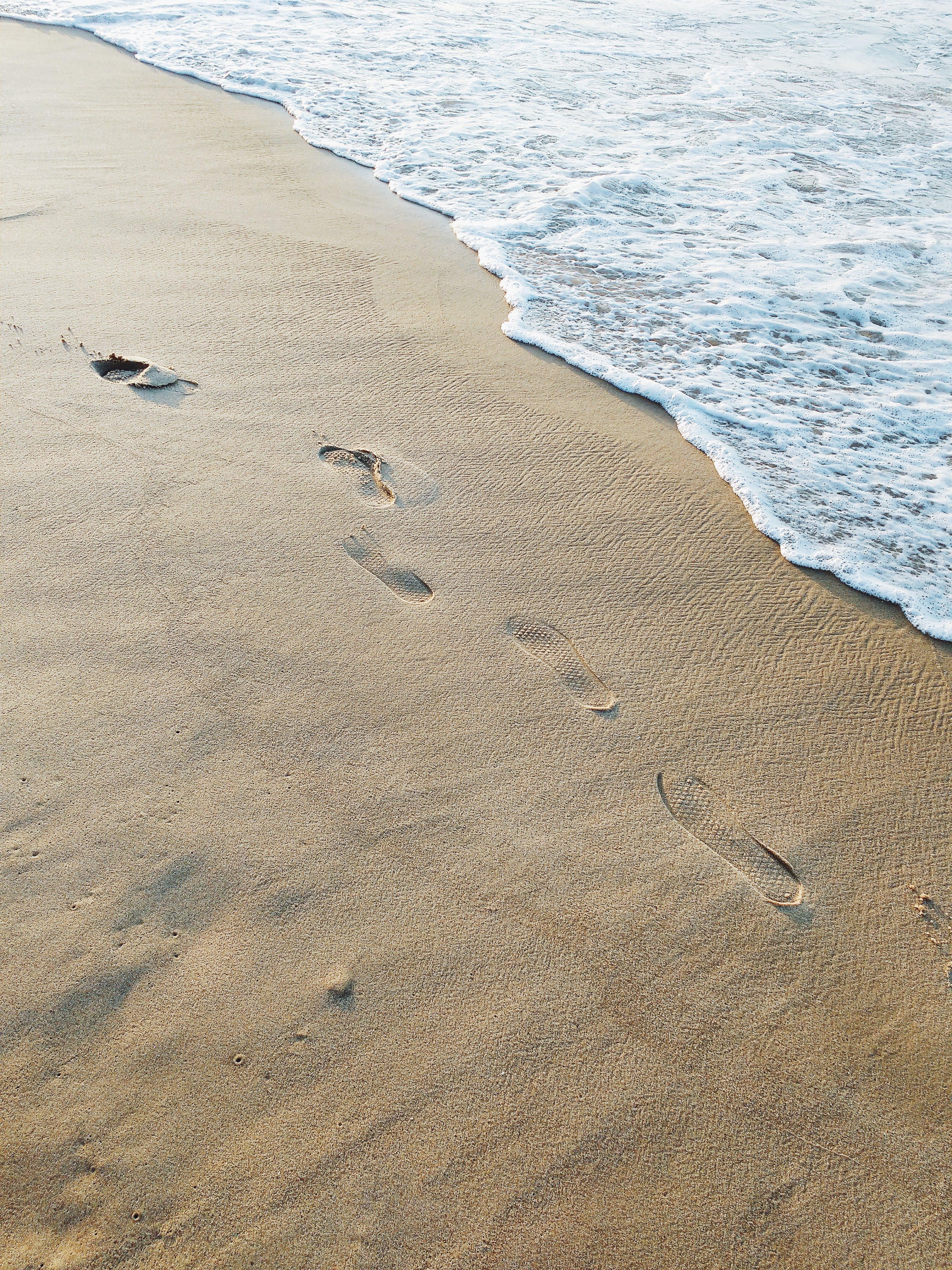 de agua, arena, arenoso, bonito