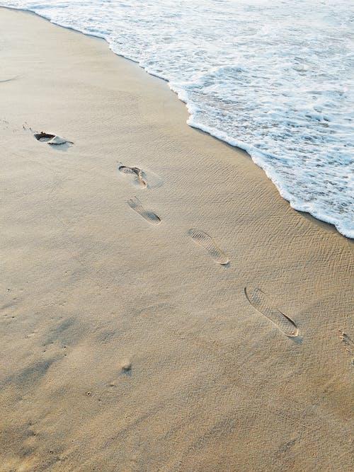Ảnh lưu trữ miễn phí về bên bờ biển, bờ biển, cát, dấu chân