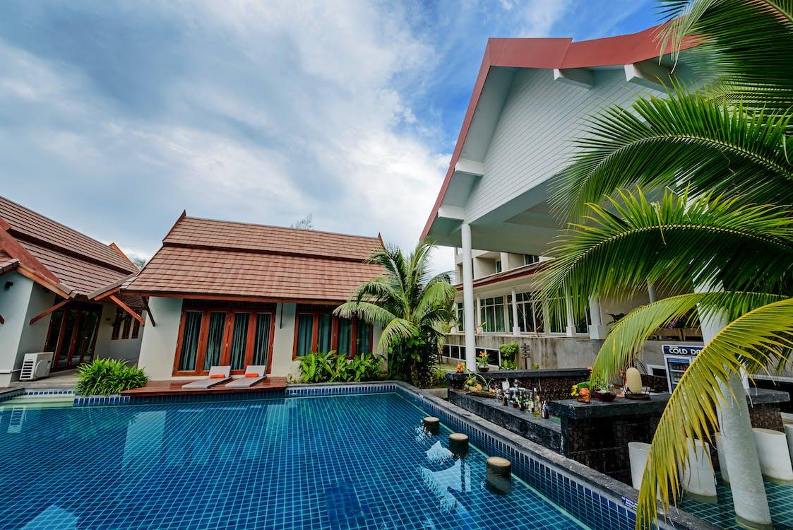 acqua, architettura, bordo piscina