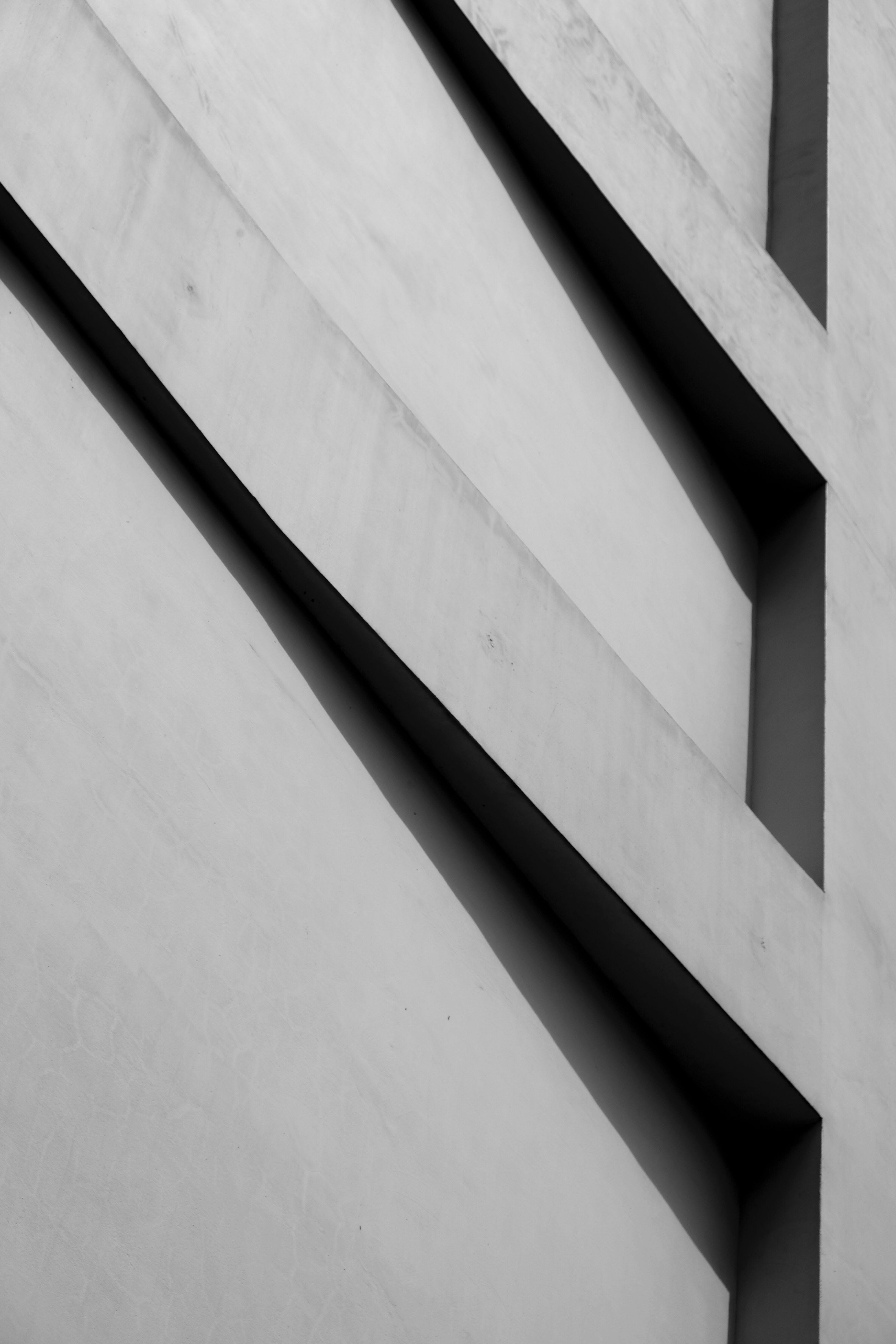 Low Angle Monochrome Shot of a Building Exterior