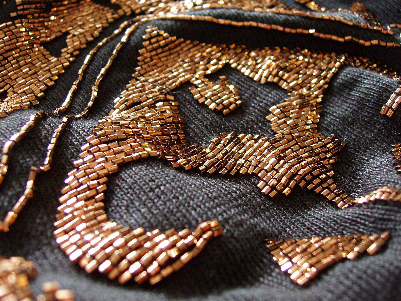 Gratis stockfoto met koper, koperen kraal, kraaltjes, kralen jurk