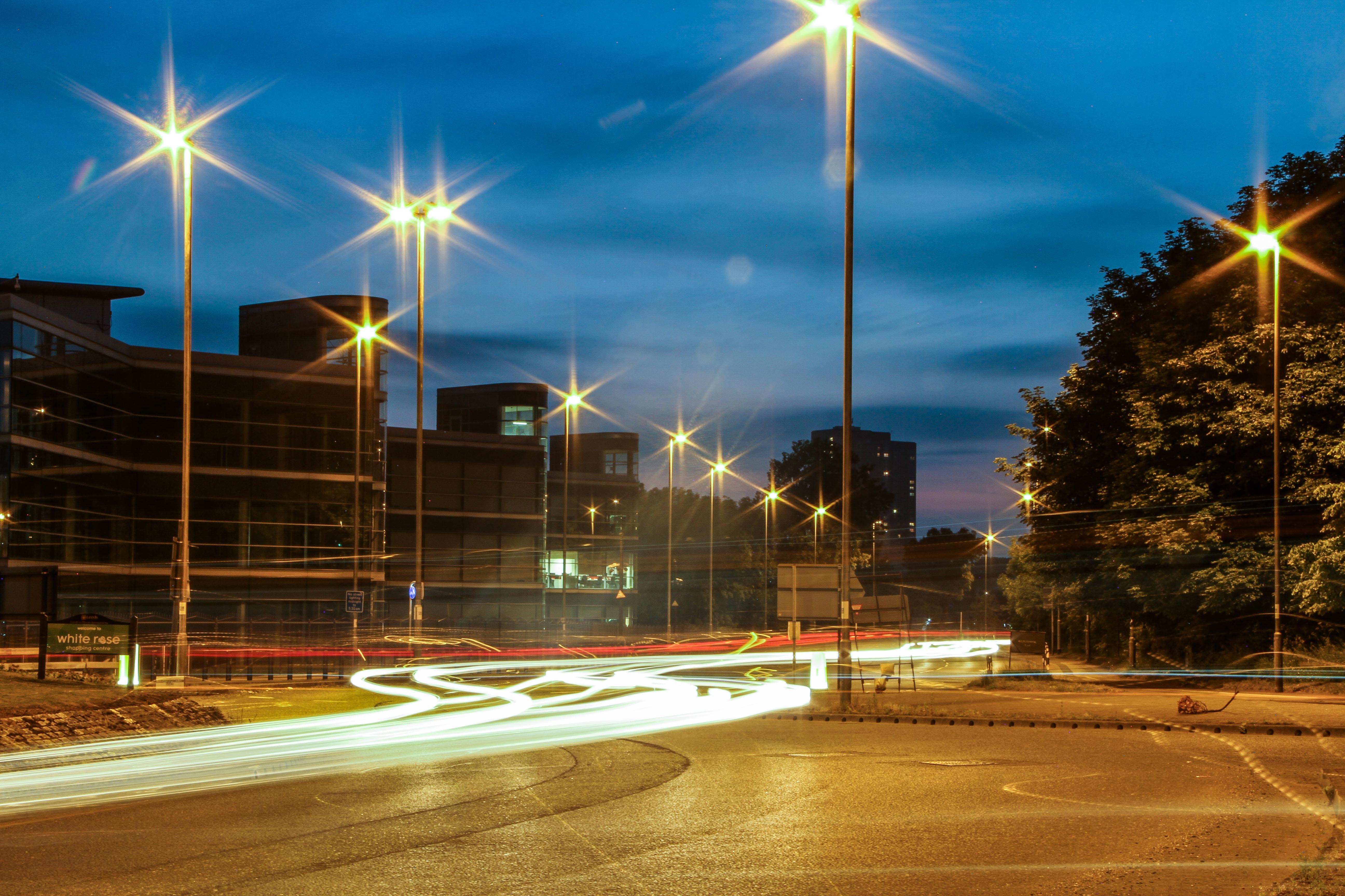 Free stock photo of car lights, city lights